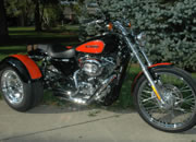 Frankenstein Trike kit photo 2009 H-D Sportster with trike conversion kit