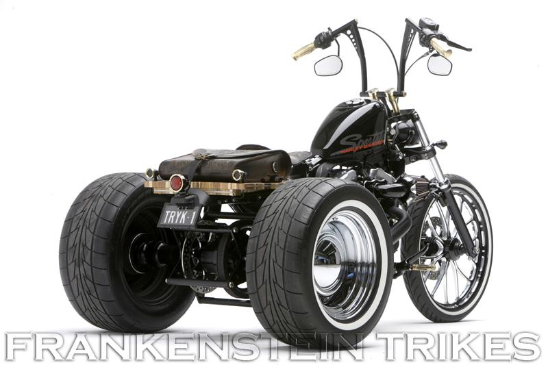 Customized Harley Davidson Sportster Trike Frankenstein Trike Conversion Kit For Sportster Not A Champion Trike Kit